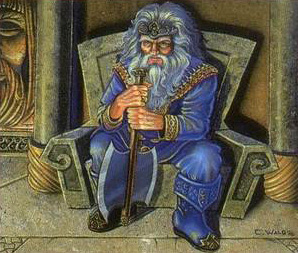King Under the Mountain from Middle Earth: The Dragons. A Dwarf picture. I did a lot of those...