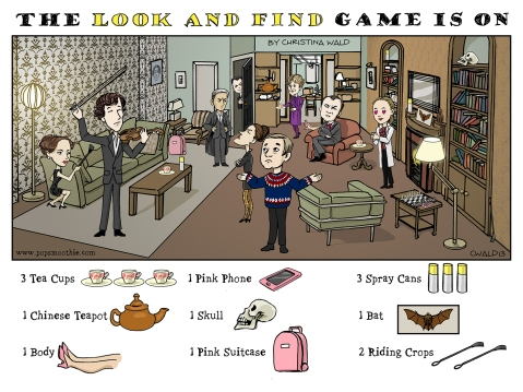 sHERLOCK lOOK AND FIND