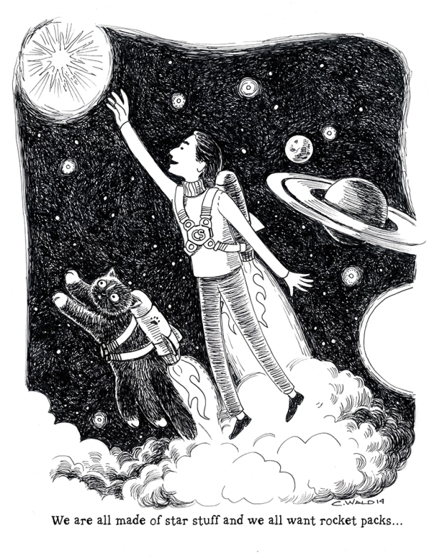 Carl Sagan and rocket