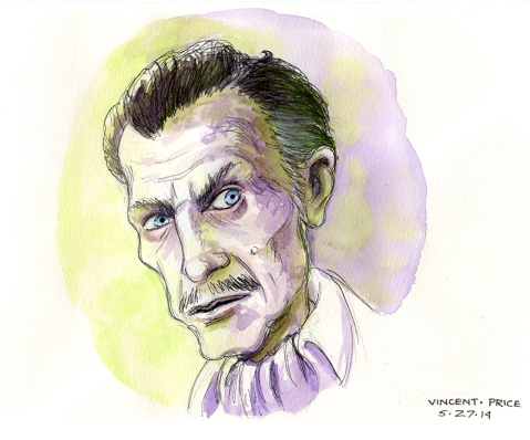 Sketch of the one and only... Vincent Price