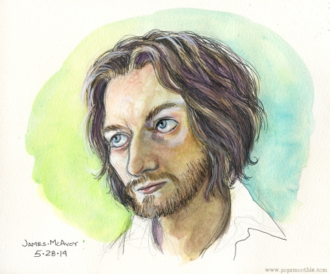 Sketch of James McAvoy