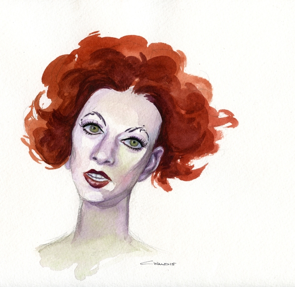 Amanda Palmer sketch by Christina Wald